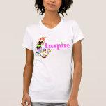 """Inspire la camiseta """"femenina"""" de la sirena"""