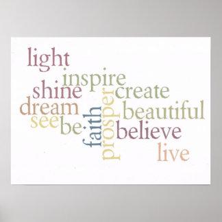 Inspire la fe póster