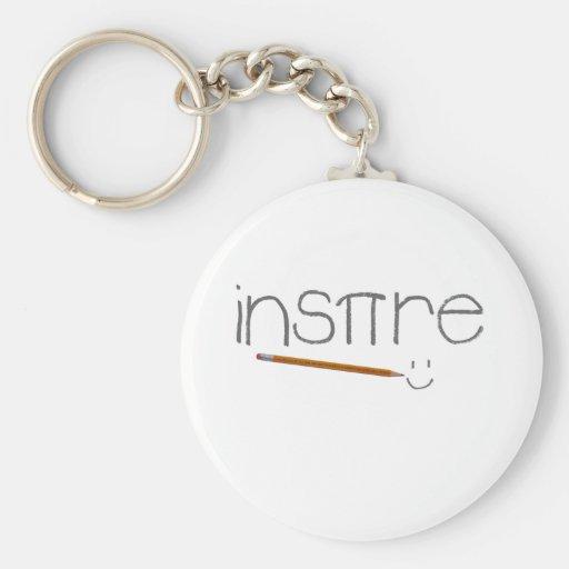 Inspire Math Basic Round Button Keychain