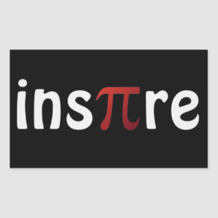 Inspire Math Pi Day Stickers at Zazzle