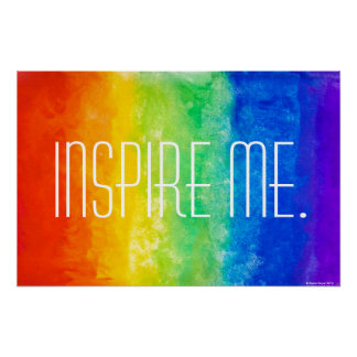 Inspire Me ROY G BIV Poster. Poster
