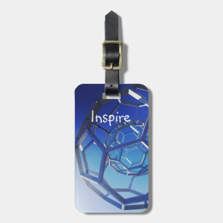 Inspire Motivational Quote Circles Photograph Luggage Tag