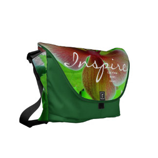 """INSPIRE"" Orchid Photograph Tote Messenger Bag"