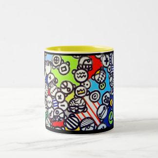 Inspire` par dubuffet Two-Tone coffee mug