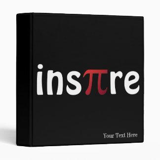 Inspire Pi Math Custom Name 3 Ring Binder
