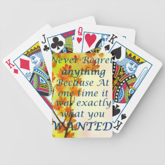Inspire quote bicycle playing cards