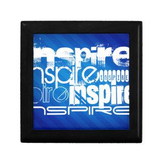 Inspire; Rayas azules reales Cajas De Recuerdo