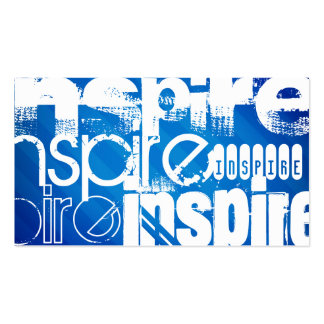 Inspire; Royal Blue Stripes Double-Sided Standard Business Cards (Pack Of 100)