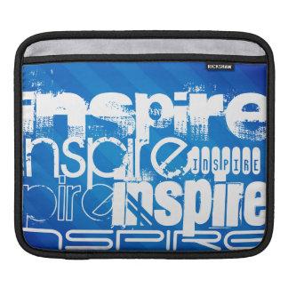 Inspire; Royal Blue Stripes iPad Sleeve