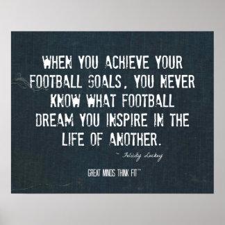 Inspire un poster del sueño del fútbol en dril de