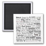 Inspire word art collage 2 inch square magnet