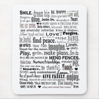 Inspire word art collage mouse pads