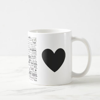 Inspire word art collage coffee mugs