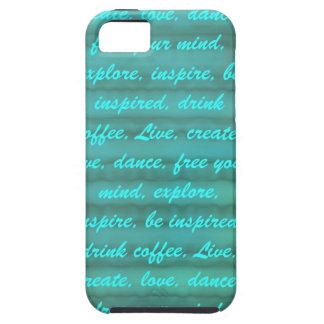 Inspire y inspírese iPhone 5 carcasa