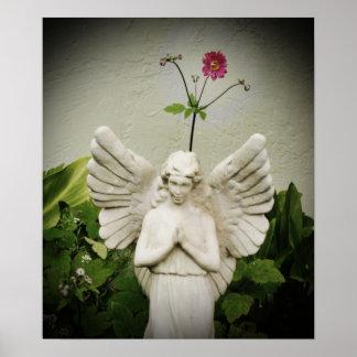 Inspired Angelic Flower Poster