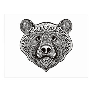 Inspired Bear Face Postcard