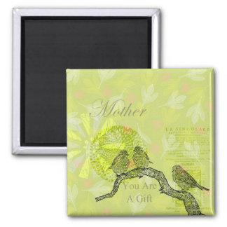 Inspired Birds Mother Magnet