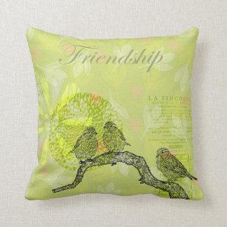 Inspired Birds Throw Pillow