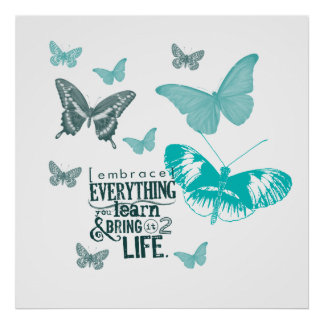 Inspired Butterflies Life Poster