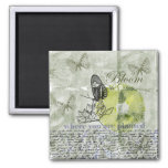 Inspired Butterfly Bloom 2 Inch Square Magnet