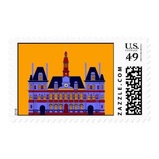 Inspired by l'Hôtel de Ville (the City Hall), Pari Postage