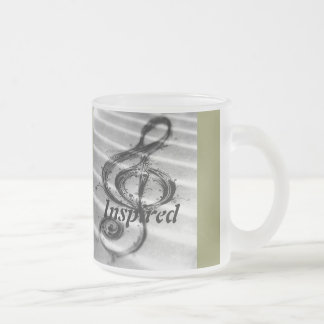 Inspired by Music 10 Oz Frosted Glass Coffee Mug