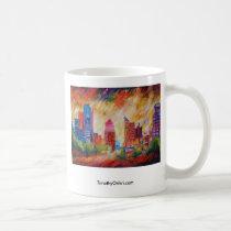 saint louis, st. louis, missouri, buildings, cityscape, structures, fine art, artwork, abstract art, city, st. louis arch, arch, mug, painting, Mug with custom graphic design