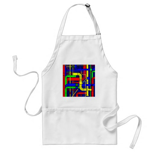Inspired by the Centre Georges Pompidou Apron