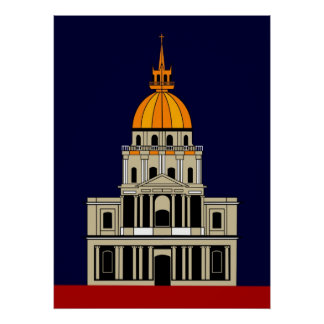 Inspired by  the Church at the Invalides Print