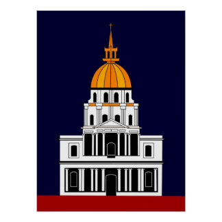 Inspired by  the Church at the Invalides Poster