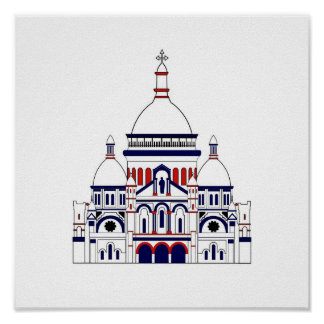 Inspired by the Sacre Coeur, Montmartre, Paris, Fr Poster