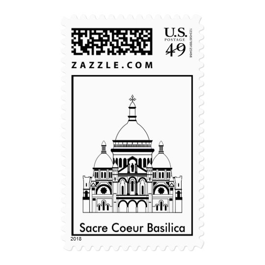 Inspired by the Sacre Coeur, Montmartre Postage
