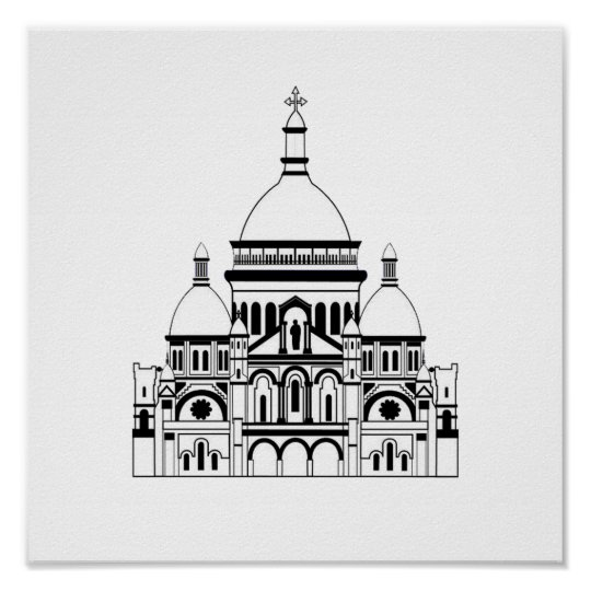 Inspired by the Sacre Coeur, Montmartre Poster