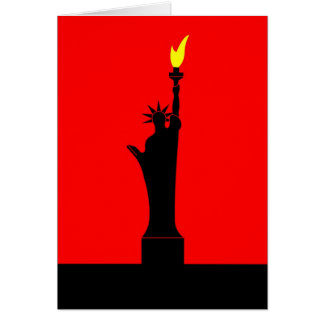 Inspired by the Statue of Liberty in Paris Card
