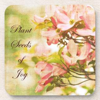Inspired Dogwood Flowers Beverage Coaster