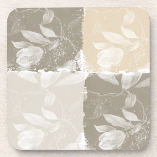 Inspired Earthy Floral Beverage Coaster
