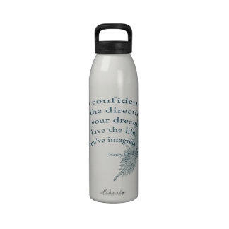 Inspired Feather Water Bottle