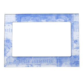 Inspired French Botanical Blue Magnetic Frame