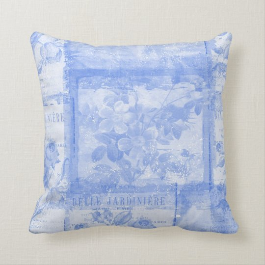 Inspired French Botanical Throw Pillow
