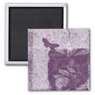 Inspired French Lilac 2 Inch Square Magnet