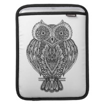Inspired Hand Drawn Ornate Owl iPad Sleeve