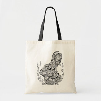 Inspired Head Of Rabbit In Wreath Tote Bag