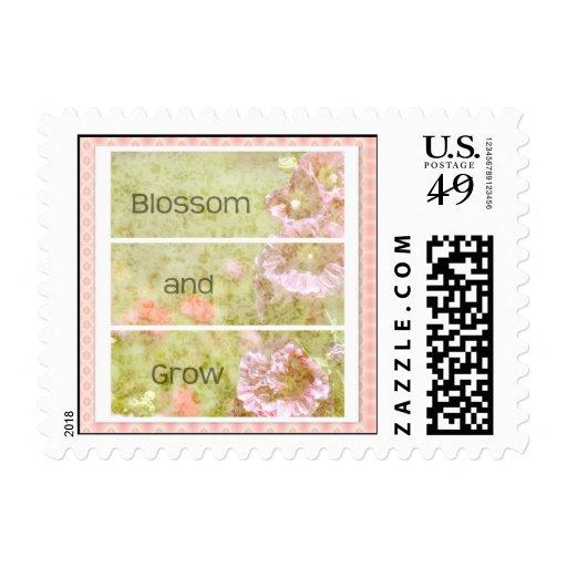 Inspired Hollyhock Floral Stamps