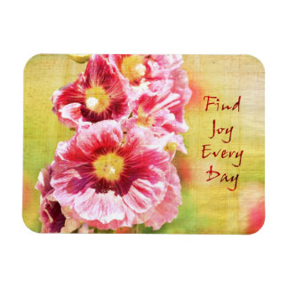 Inspired Hollyhock Flowers Flexible Magnets