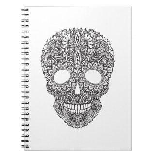Inspired Human Skull Notebook