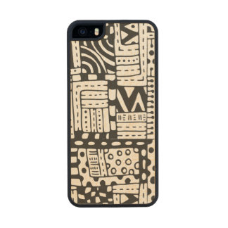 Inspired Indian Abstract Figures Wood Phone Case For iPhone SE/5/5s