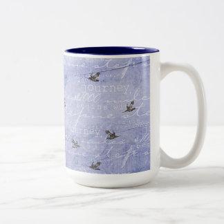 Inspired Journey Blue Two-Tone Coffee Mug