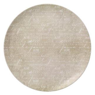 Inspired Journey Melamine Plate