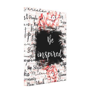 "Inspired Life Canvas Wall Hanging ""Be Inspired"""