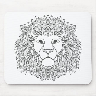 Inspired Lion Head Mouse Pad